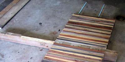 Table faite de planches de palettes5