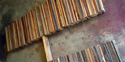Table faite de planches de palettes6