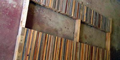 Table faite de planches de palettes7