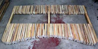 Table faite de planches de palettes8