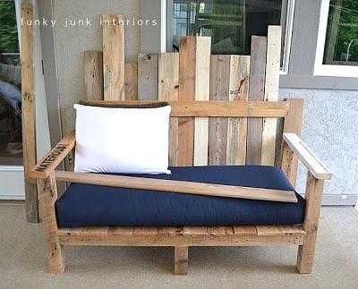 Un canapé pour votre jardin fait de palettes