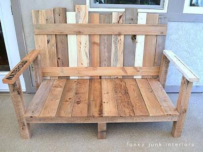 Un canapé pour votre jardin fait de palettes2