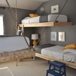 pendaison lits superposés faite avec des palettes