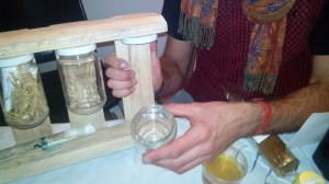Étagère de cuisine d'épice fabriqué à partir d'une palette6