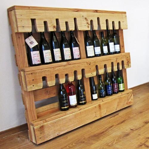 Id es de porte bouteilles base de palettesmeuble en palette meuble en palette for Range bouteille fait maison