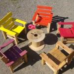 Chaises pour la terrasse et un hamac pour bronzer