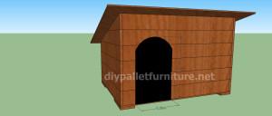 Projet et des plans pour construire une niche pour chien avec des palettes (10)