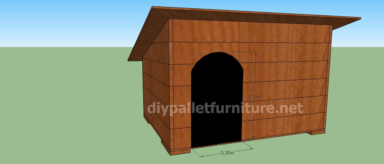 projet et des plans pour construire une niche pour chien avec des palettesmeuble en palette. Black Bedroom Furniture Sets. Home Design Ideas