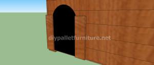 Projet et des plans pour construire une niche pour chien avec des palettes (11)