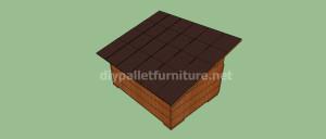 Projet et des plans pour construire une niche pour chien avec des palettes (12)