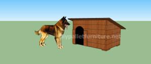 Projet et des plans pour construire une niche pour chien avec des palettes (13)