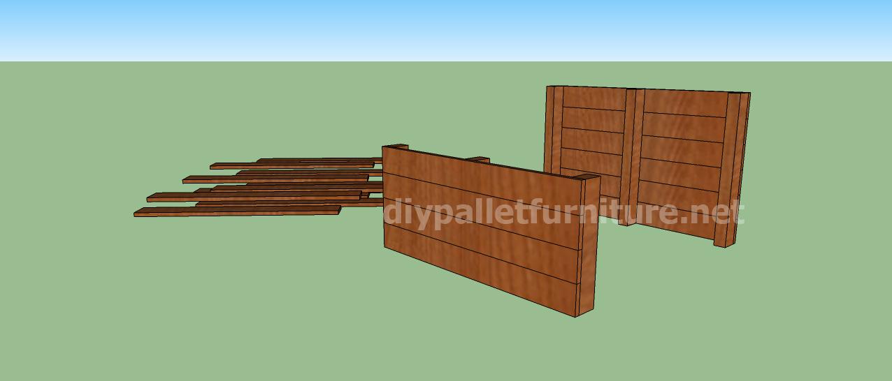 Fabriquer une avec des palettes simple bac compost en - Comment faire un bar avec des palettes ...