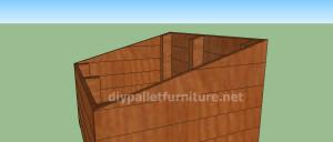 Projet et des plans pour construire une niche pour chien avec des palettes (7)