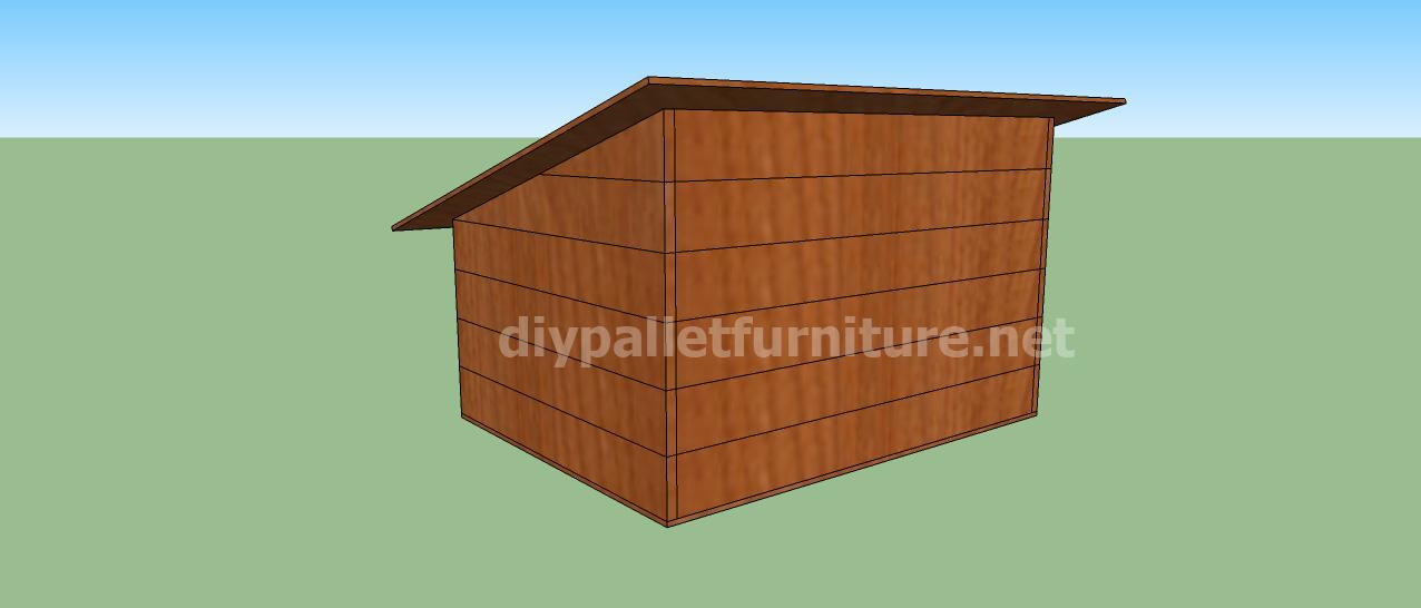 Projet et des plans pour construire une niche pour chien - Fabriquer une niche pour chien avec des palettes ...