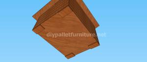 Projet et des plans pour construire une niche pour chien avec des palettes (9)