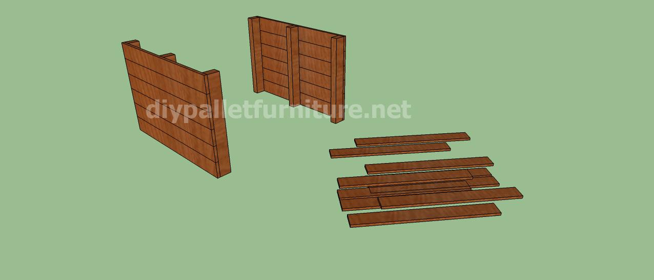 Projet et des plans pour construire une niche pour chien - Niche chien palette ...