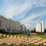 Brodno parc d'attractions construit avec des palettes en Targowek , Varsovie