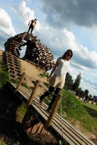 Brodno parc à thème construit avec des palettes en Targowek , Varsovie3