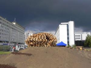 Brodno parc à thème construit avec des palettes en Targowek , Varsovie4