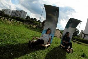 Brodno parc à thème construit avec des palettes en Targowek , Varsovie6