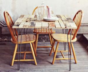 Comment faire une table rustique et vintage avec des planches de palettes (2)
