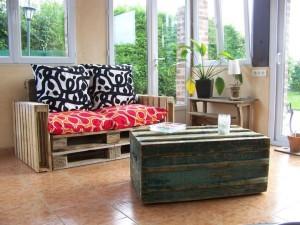 Exemples en vidéo de meubles fabriqués à partir de palettes