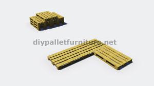 Instructions et plans 3D de la façon de faire un canapé pour le jardin avec des palettes 2