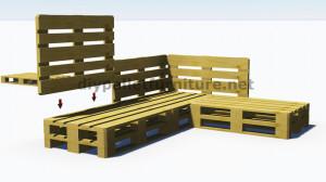 Instructions et plans 3D de la façon de faire un canapé pour le ...