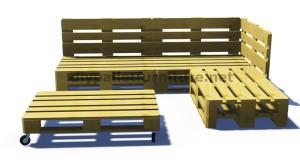 Instructions et plans 3D de la façon de faire un canapé pour le jardin avec des palettes 7