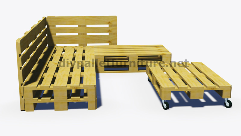 Instructions et plans 3d de la fa on de faire un canap - Plan chaise de jardin en palette ...
