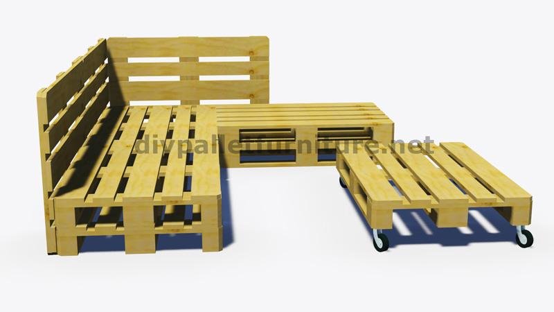 Instructions et plans 3D de la façon de faire un canapé pour le jardin avec des palettesMeuble ...