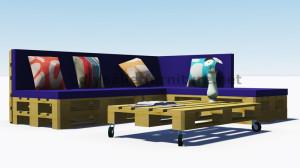 Instructions et plans 3D de la façon de faire un canapé pour le jardin avec des palettes 9