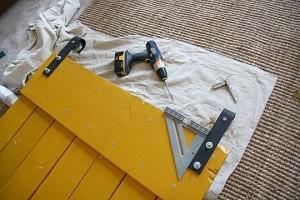 Instructions sur la façon de faire une porte coulissante avec palettes 10