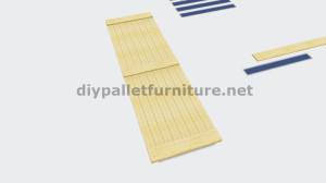 Instructions sur la façon de faire une porte coulissante avec palettes 4
