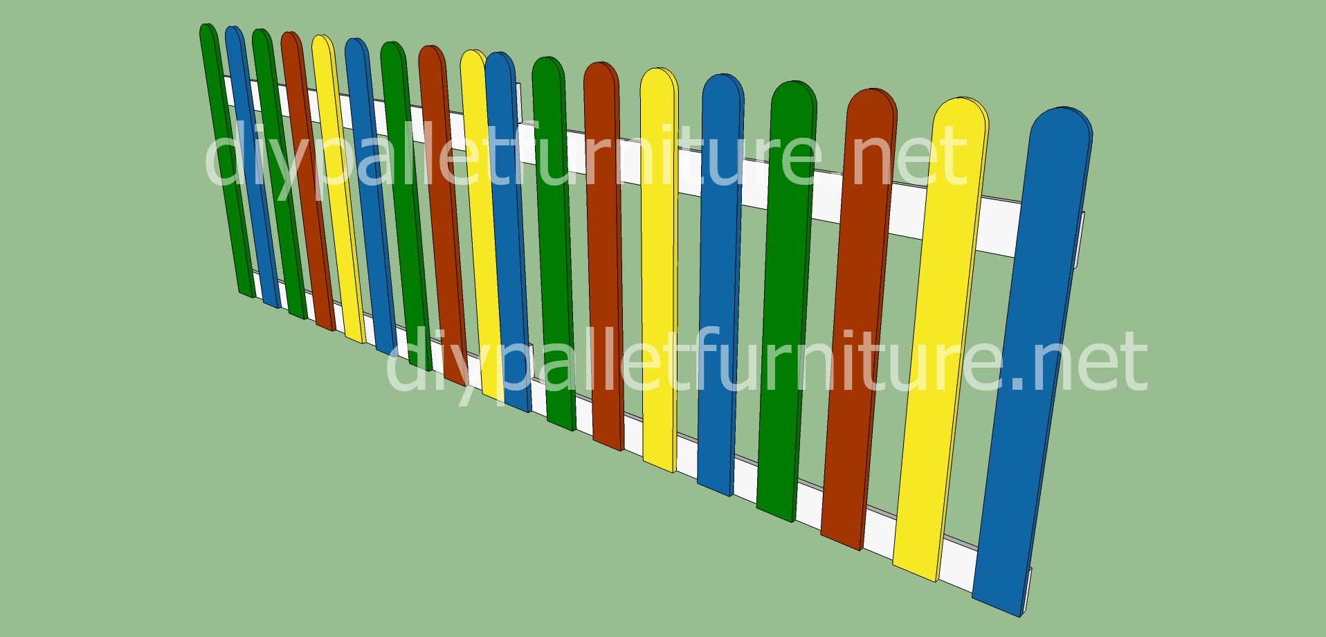 Jardin d enfants faite avec des palettes et des plans du processusmeuble en palette meuble en for Peindre des palettes