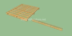 Plancher simple faite avec des palettes en bois2