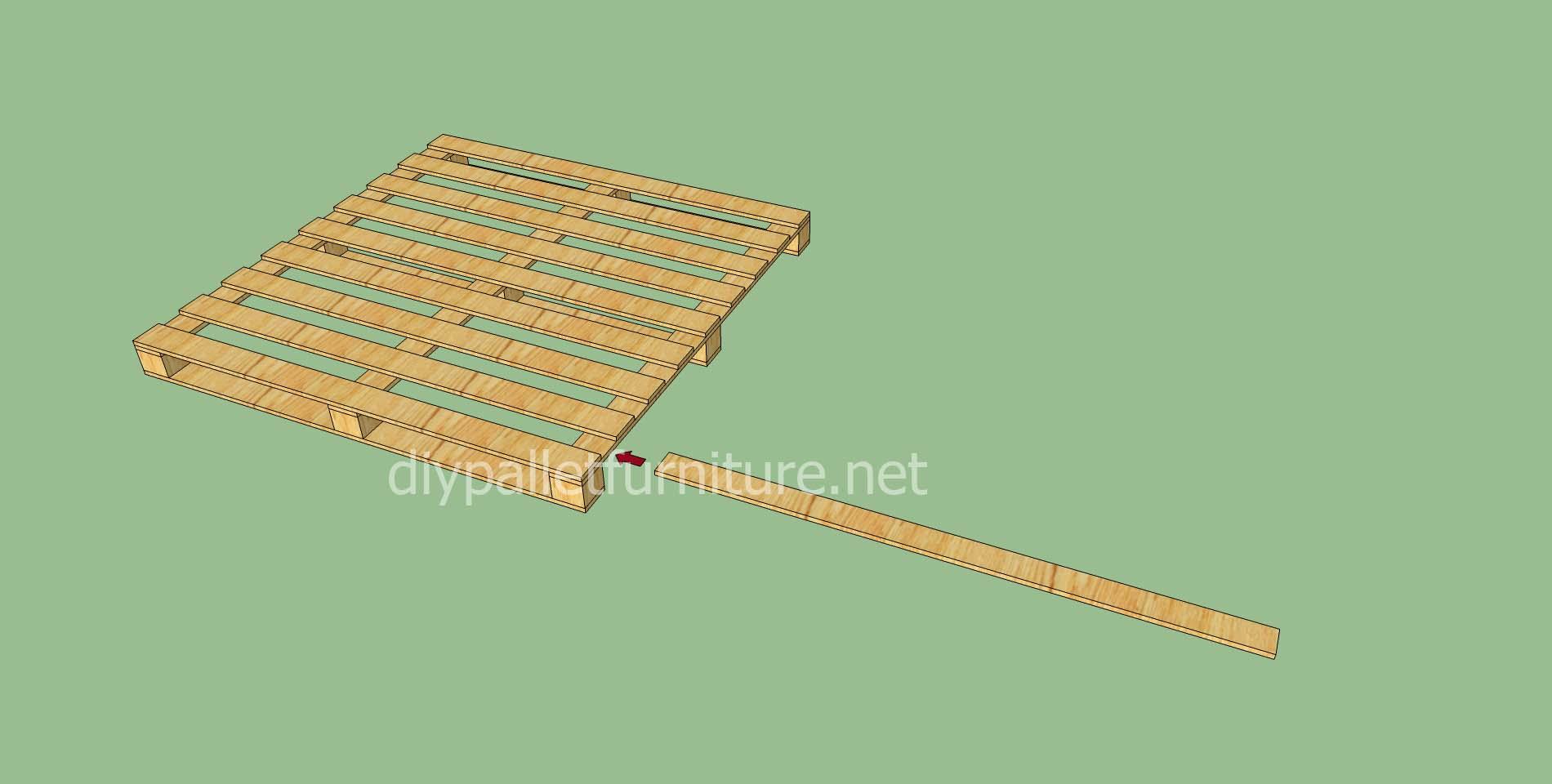 plancher simple faite avec des palettes en boismeuble en palette meuble en palette. Black Bedroom Furniture Sets. Home Design Ideas