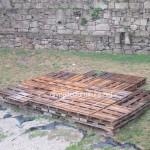 Plancher simple faite avec des palettes en bois