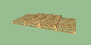 Plancher simple faite avec des palettes en bois9