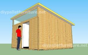 Plans et vidéo de la façon de faire une maison avec des palettes ( 2 de 3 )