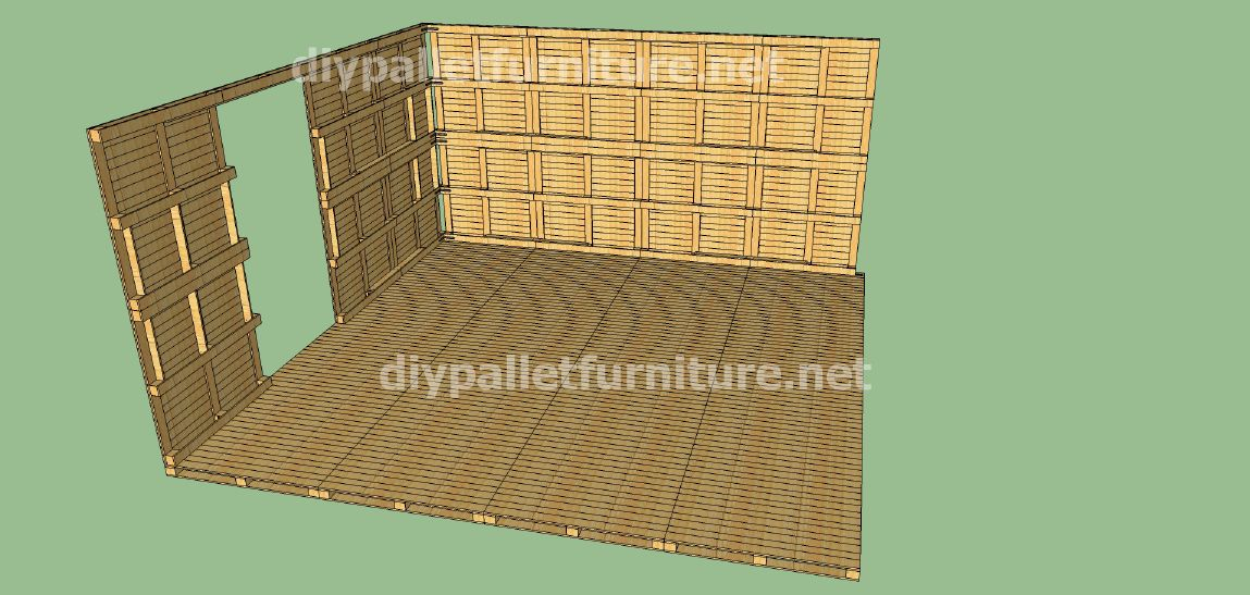 Plans et vid o de la fa on de faire une maison avec des palettes 2 de 3 meuble en palette - Quoi faire avec des palettes ...