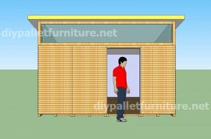 Plans et vidéo de la façon de faire une maison avec des palettes ( 3 de 3 ) 1