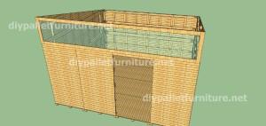 Plans et vidéo de la façon de faire une maison avec des palettes ( 3 de 3 ) 7
