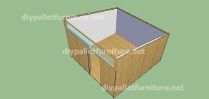 Plans et vidéo de la façon de faire une maison avec des palettes ( 3 de 3 ) 9
