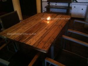 Tables de palettes à le Café de belgrado