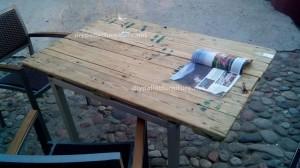 Tables de palettes à le Café de belgrado (5)