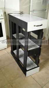 Armoire de cuisine faite avec des palettes 2