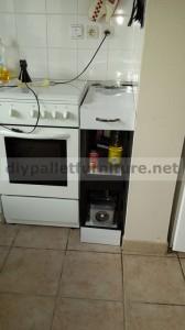 Armoire de cuisine faite avec des palettes 4