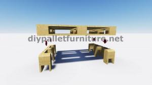 Cool table avec seulement 2 palettes 4