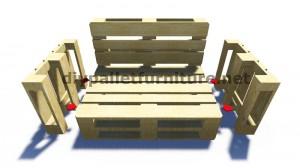 Des instructions étape par étape et des plans sur la façon de faire un canapé avec des palettes facilement 6